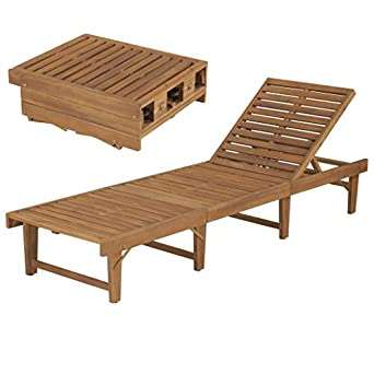 Amazon.com: Festnight - Silla de jardín plegable de madera ...