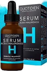 Serum Ácido Hialurónico Facial+Vitamina B5+Extracto de Bulbo de Azafrán-99% Ingredientes Naturales-Hidratación