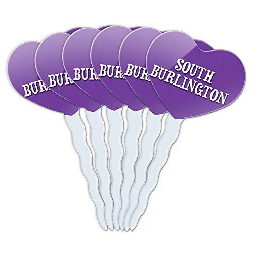Purple Heart Love Set of 6 Cupcake Picks Toppers Decoration Places Ri-So - South Burlington (Party Supplies Burlington)