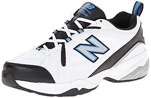 New Balance Men's MX608v4 Training Shoe, White/Royal, 14 2E US