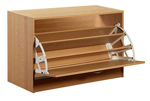 Shoe Organizer, Maple - Maple Stackable Storage Organizer