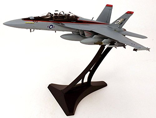 Boeing F/A-18F (F-18) Super Hornet VFA-41 Black Aces - 1/72 Scale Diecast Model - METAL DISPLAY STAND INCLUDED -