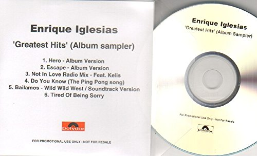 ENRIQUE IGLESIAS - GREATEST HITS - CD promo smapler - CD (not vinyl)