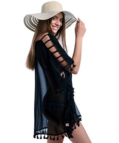 Torry Elegant Beachwear Swimsuit Cover Up Kaftan Dress (L/XL/XXL, - Bikini Stare