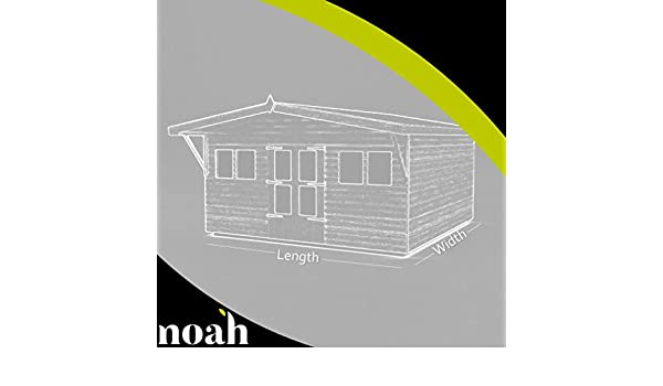 Avant Garde 12 x 10 - Cobertizo, caseta de jardín, garaje resistente de madera: Amazon.es: Jardín