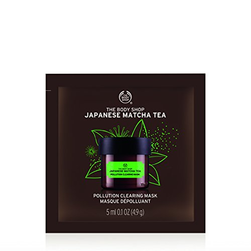 The Body Shop Japanese Matcha Tea Pollution Clearing Mask, Single Use Expert Facial Mask 100% Vegan, 0.2 Ounce