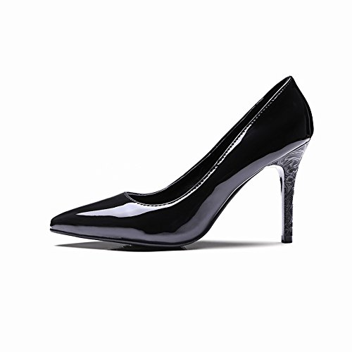 Foot Stiletto Charm Heel Pumps Pointed High Chic Toe Womens Shoes Black SIxH7d