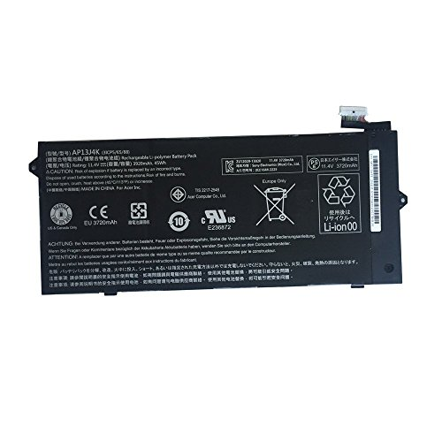 Batterymarket 11.4V 45WH Replacement Laptop Battery AP13J4K AP13J3K For Acer Chromebook C720 C720P C740 KT00304001 AP13J3K AP13J4K (3ICP5/65/88)