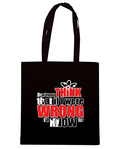 T-Shirtshock - Bolsa para la compra OLDENG00413 bigbang if i were wrong Negro