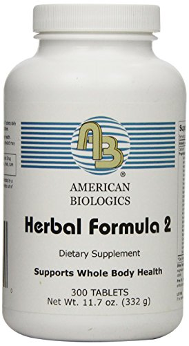 American Biologics Herbal Formula 2 Tablets, 300 Count by AMERICAN BIOLOGICS