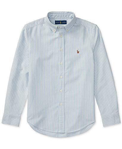 - Polo Ralph Lauren Men's Striped Long Sleeve Oxford Shirt L Blue / White