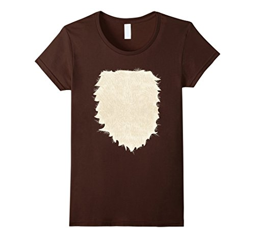 Doe Costume (Womens Fox, Deer, Buck, Doe, Wolf Halloween Costume T shirt Small Brown)