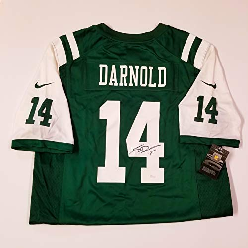 Sam Darnold New York Jets Quarterback Autographed On The Field Authentic Jersey.