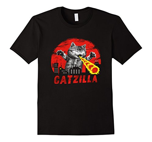 Mens Catzilla Big Furry Monster Kitten Cute Japanese