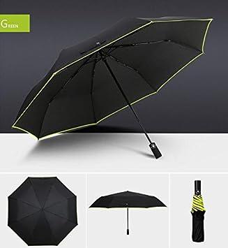 WYF-YS Umbrella Hombre paraguas plegable paraguas soleado Sunny paraguas arcoiris Paraguas arcoiris (Color