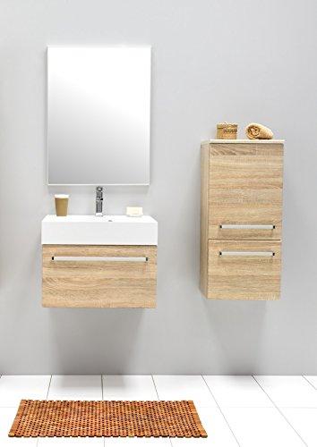 Galdem® Juego de Muebles para baño con Lavabo Espejo Armario ...