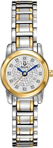 Bulova Highbridge Silver Diamond Pave Dial Two-tone Ladies Watch (Case Pave Diamond Dial)