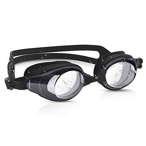 JazzF Swim Goggles, Swimming Goggles No Leaking Anti-Fog UV Protection Triathlon for Adult Men Women Youth Kids Child, Wide Vision, Shatter-Proof, Watertight, Mirrored Clear Lens (Triathlon Trunks)