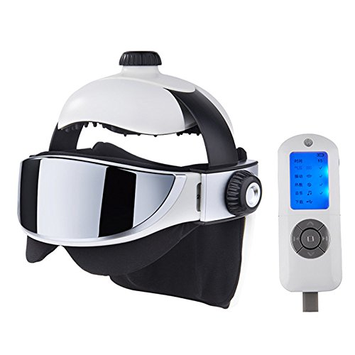 Electric Head Massage Helmet/Eye Massage/Neck Massage | for Stress & Headache Relief | Works as a Migraine Therapy, to Help The Brain Relax and as a Scalp & Eye Massager (Best Massage Techniques For Migraines)