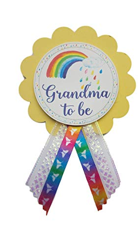 Grandma to Be Pin Rainbow Baby Shower Pin for her to wear, It's a Girl, It's a Boy Baby Sprinkle