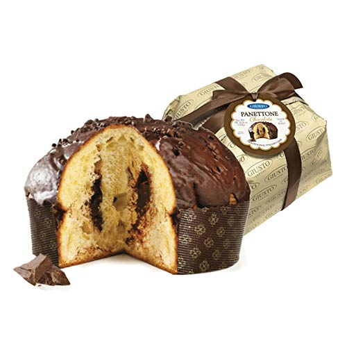 Giusto Sapore Italian Panettone Premium Chocolate Gourmet Bread 26.4 Ounce - Traditional Dessert - Imported from Italy and Family Owned
