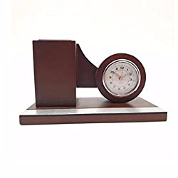 CJSHVR The alarm clock and clock round wood character clock