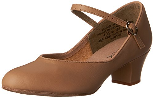 Capezio Women's 459 Suede Sole Jr. Footlight Character Shoe Caramel