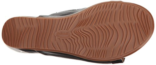 SoftWalk Women's Del Mar Wedge Slide Sandal, Black, 9 M US by SoftWalk (Image #3)