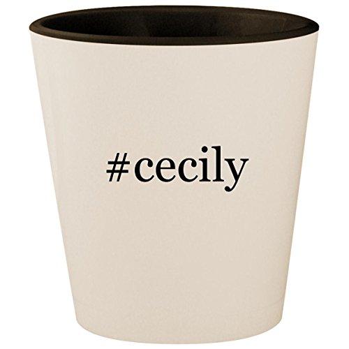 #cecily - Hashtag White Outer & Black Inner Ceramic 1.5oz Shot Glass