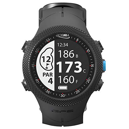 POSMA GB3 Golf Triathlon Sport GPS Watch - Range Finder - Running Cycling Swimming Smart GPS Watch - Android iOS app (Best Golf Rangefinder App For Android)