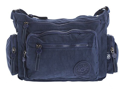 Cross Various Sizes Messenger Fabric Big Handbag Messenger Rainproof Womens Navy Shop 1 in Body Bag Style Travel xwPwqY