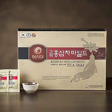 Té Ginseng coréen, caja 50 bolsas, stimule la circulación, la memoria, el tono