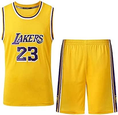 Th-some NBA Maillots de Baloncesto para Niños - Camisetas de Baloncesto NBA Bulls Jordan NO.23,Lakers James NO.23,Warriors Curry NO.30,Chaleco y ...