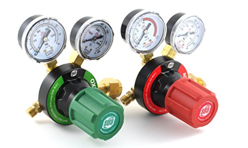 SÜA Oxygen and Acetylene V350 Regulators Combo