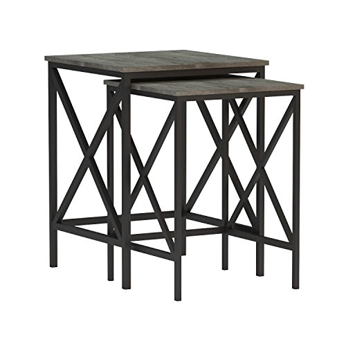 Convenience Concepts Tucson Nesting End Tables, Weathered Gr
