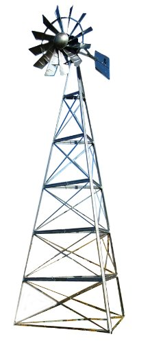 Outdoor Water Solutions AWS0139 24-Feet Galvanized 3-Legged Aeration System Windmill