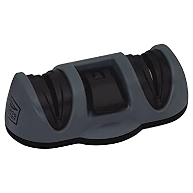 Chicago Cutlery Dual Sharpener with Fine and Coarse Suction Bottom, Black