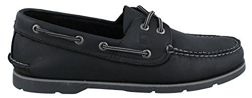 Sperry Top-Sider hombre Leeward X-Lace Boat Shoe negro