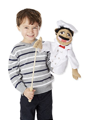 Melissa Amp Doug Chef Puppet With Detachable Wooden Rod For