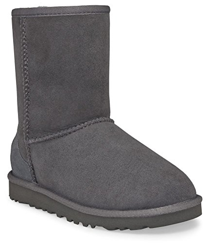 UGG Unisex Classic Short Pull on Boot (Toddler/Little Kid), Grey, 10 M US Toddler (Classic Tall Wool Boot)