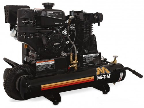 Mi-T-M AM1-PK07-08M Portable Air Compressor, 8-Gallon, Single Stage with Gasoline by Mi-T-M