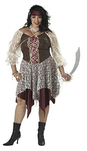 South Seas Siren Plus Size Adult Pirate (South Seas Pirate Costumes)
