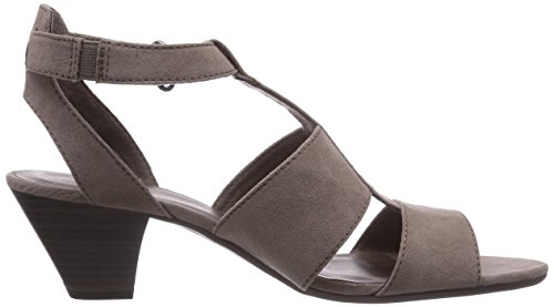 Sandalias sintético de vestir Braun de 28305 PEPPER mujer material Jana para marrón FqwC4x