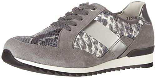 Waldläufer Hurly, Zapatos de Cordones Derby para Mujer Mehrfarbig (pietra bianco silber)