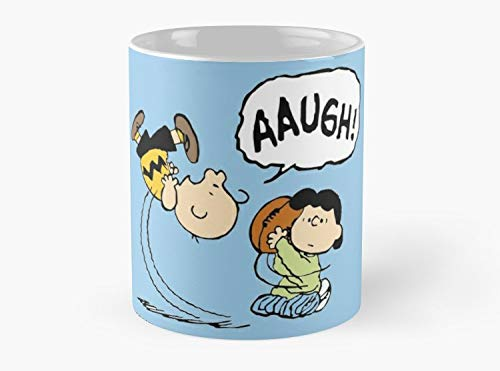 Charlie Brown And Lucy Football - CHARLIE BROWN AND LUCY FOOTBALL Mug Coffee Mug - 11 oz Premium Quality printed coffee mug - Unique Gifting ideas for Friend/coworker/loved ones
