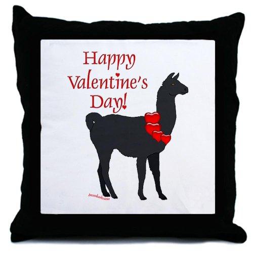 Llama Valentine Throw Pillow