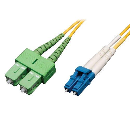 Tripp Lite Duplex Singlemode 8.3/125 Fiber Patch Cable (LC to SC/APC), 3M (Fddi Single)