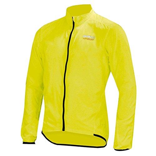 Fluo Impachettabile Bici Yellow Y002 Briko Piuma Jacket Giacca qPS7S8