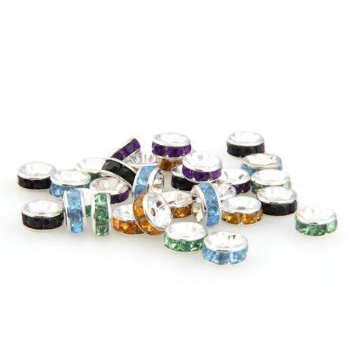 14 opinioni per Lotto Stock 30 Perline Perle 8mm con strass colorato