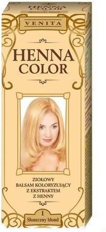 Henna Color 1 Soleado Rubia Bálsamo Capilar Tinte Para Cabello Efecto De Color Tinte De Pelo Natural Gallina Eco